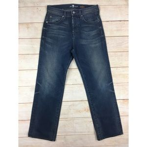 7 For All Mankind Aiden Stright Mid Rise Jeans